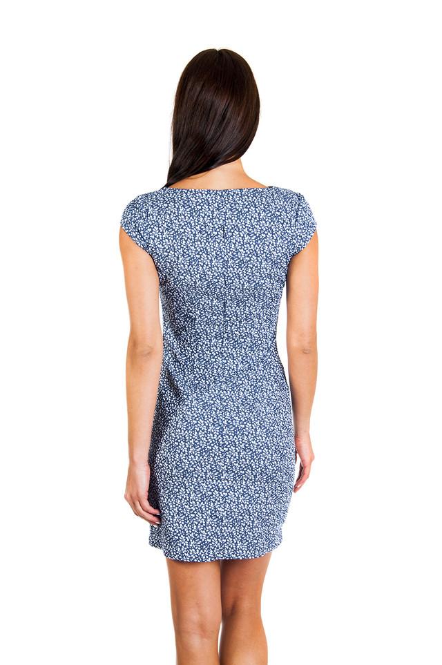 Платье-футляр с карманами из котона П180