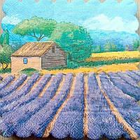 Салфетка декупажная 15x15см 15 Васильковое поле  (товар при заказе от 500грн)