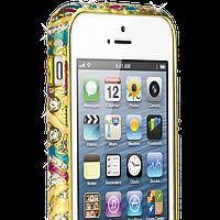 """Бампер """"Indigo"""" для iPhone 5/5S с камнями Swarovski золотистый"""