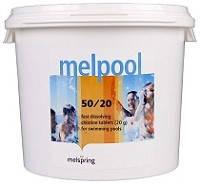 Melpool 50/20 хлор для шоковой обработки воды в бассейне 5кг, 25кг