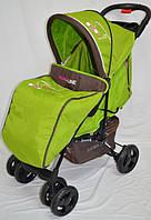 Прогулочная детская коляска-трость Sigma  YK-10F. Салатовая.