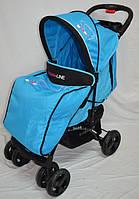 Прогулочная детская коляска-трость Sigma  YK-10F. Голубая.