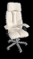 Кресло Business (Бизнес) экокожа белая (ТМ Kulik System)