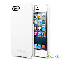 SGP  Genuine Leather Grip White for Apple iP iPhone 5/5S