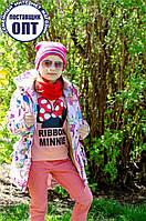 Демисезонная курточка - парка принты для девочки, фото 1