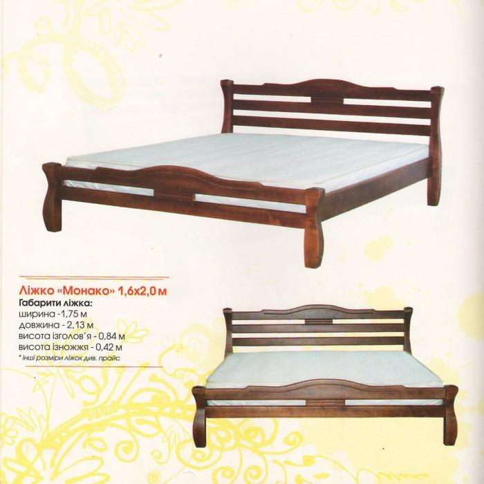 Деревянная кровать Монако 90х200 сосна Mebigrand