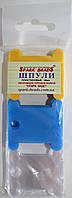 Шпули пластиковые для мулине микс из трех цветов: желтый, синий, прозрачный (30 шт)