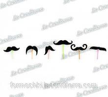 Трубочки з вусами для коктейлів різнокольорові PF6002 (60 шт.)