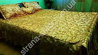 Жаккардовое покрывало (флиз подкладка) с 3 подушками