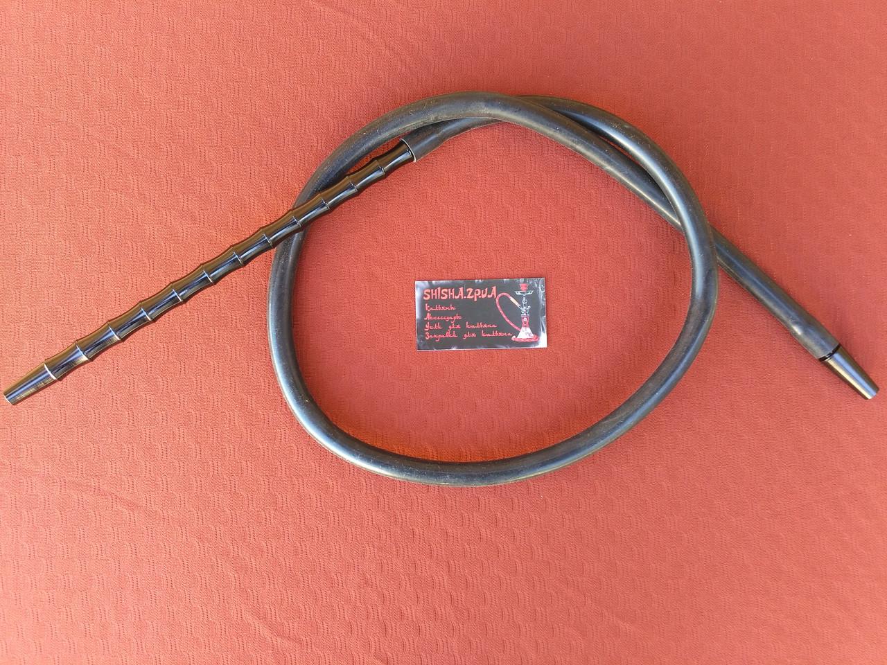 Шланг силиконовый с алюминиевыми мундштуками - цвет: черный, син., зел