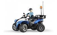 Квадроцикл Bruder с фигуркой полицейского (63010)