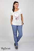 Модные брюки-чинос для беремнных Semi, синий джинс*