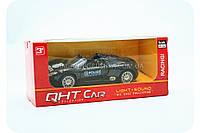 Машинка игровая «QHT Car» - Полиция черная гоночная (свет, звук), фото 1
