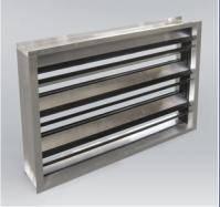 Регулировочная заслонка прямоугольная алюминиевая RKALM