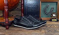 Туфли мужские черные натуральная кожа код 5-200