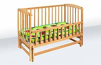 Кровать детская на шарнирах с откидной боковиной