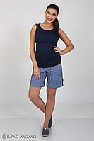 Летние шорты для беременных Tressi, из стрейч-поплина, джинсово-синие