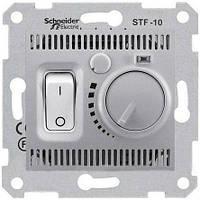 Термостат (терморегулятор) для теплого пола, алюминий, Sсhneider Electriс Sedna Шнайдер электрик Седна