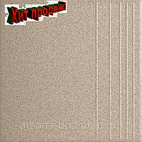Плитка ступень Грес 0001С гладкий 300х300х7,5 мм