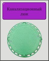 Канализационный люк Садовый 1т полимерный (зеленый с замком)