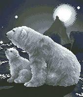 Схема для вышивки на канве Белые медведи РКан 4101