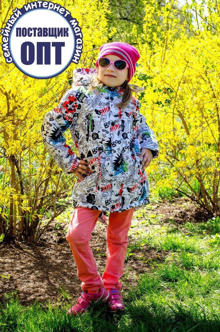 Демисезонная курточка - парка принты для девочки