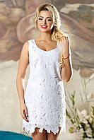 Женское летнее нарядное белое платье