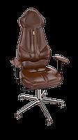 Кресло Imperial (Империал) экокожа коричневая (ТМ Kulik System)