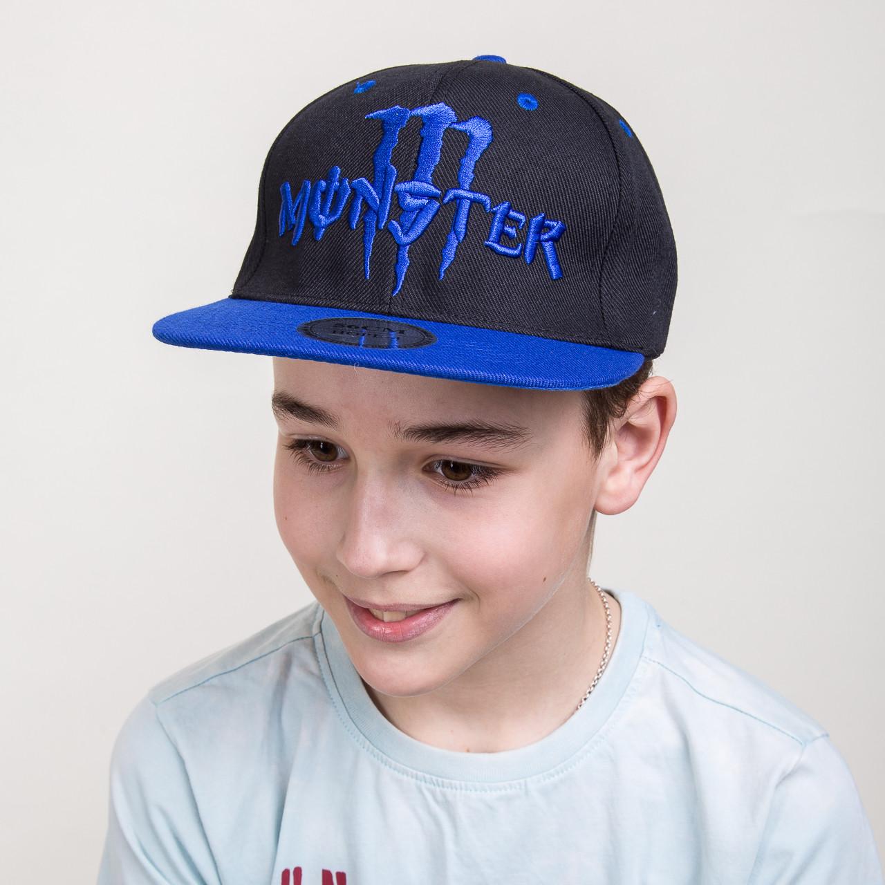 Кепка для мальчика Snapback реперская от производителя - Monster - Б12b