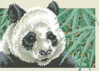 Набор алмазной вышивки. Панда в бамбуковой роще. Размер холста 19х26см