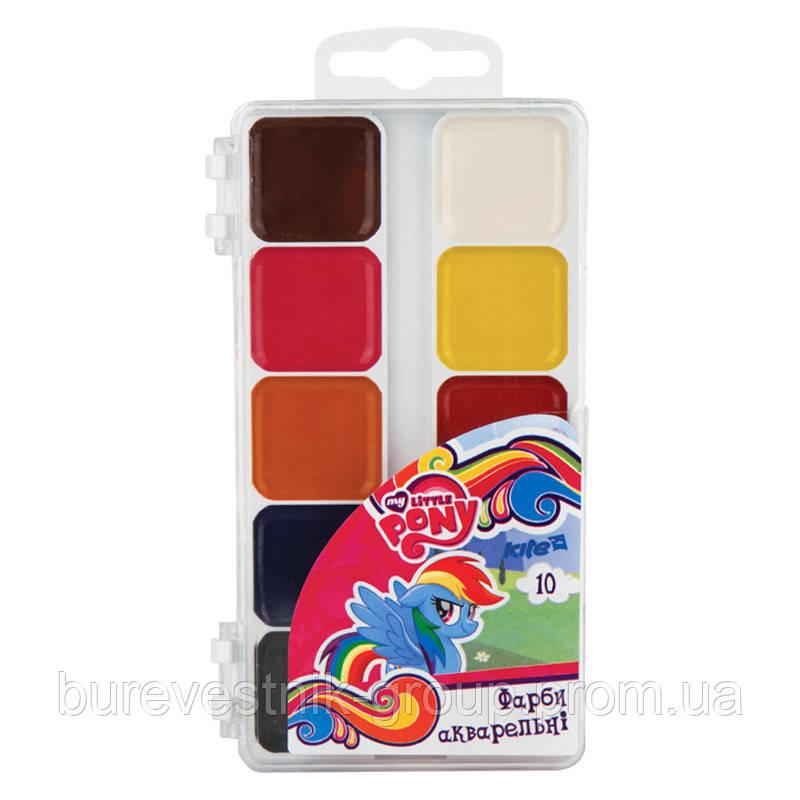 Полусухие ( медовые ) акварельные краски Kite Little Pony (LP17-060) 10цв.