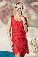 Женское нарядное летнее красное платье