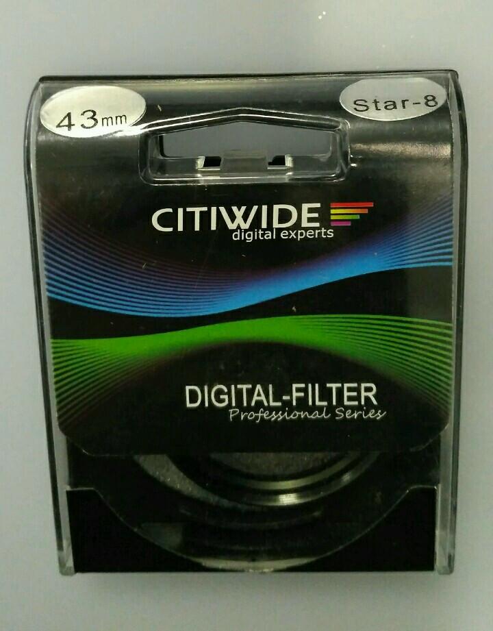 Звездный фильтр 43мм 8-ми лучевой, star-8 CITIWIDE