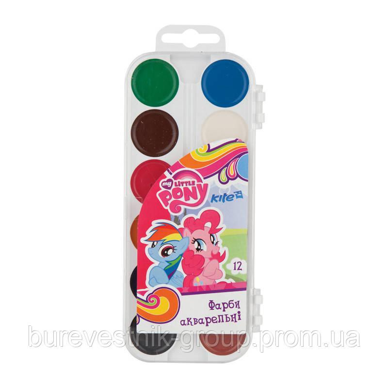 Напівсухі ( медяні ) акварельні фарби Kite Little Pony (LP17-061) 12кол.