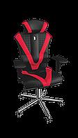 Кресло Victory (Виктори) экокожа черная-красная,шов Quatro  (ТМ Kulik System)