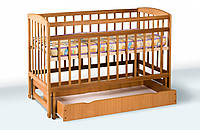 Кровать детская на шарнирах с выдвижным ящиком шухляда