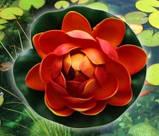 Цветок Лотоса декоративный плавающий 10 х10х5 см(водяная лилия) розовый, фото 3