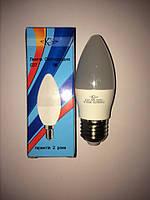 LED ЛЕД светодиодная лампа Квант 5Вт 5W Е27 свеча