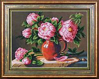 Набор для вышивания бисером Розовые пионы