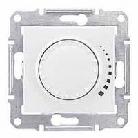 Светорегулятор (диммер) индуктивный поворотно-нажимной проходной 25-325 Вт/ВА, белый, Sсhneider Sedna Седна