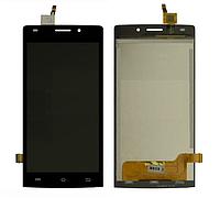 Оригинальный дисплей (модуль) + тачскрин (сенсор) для Bravis Spark (черный цвет)