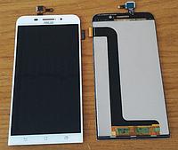 Оригинальный дисплей (модуль) + тачскрин (сенсор) для Asus Zenfone Max ZC550KL (белый цвет)