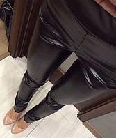 Крутые кожаные женские лосины по низкой цене