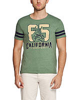 Мужская футболка LC Waikiki светло-зеленого цвета с надписью 85 California, фото 1