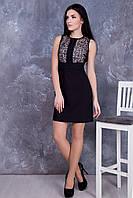 Черное женское платье Француа ТМ Irena Richi 42-48 размеры