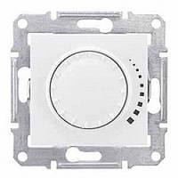 Светорегулятор (диммер) емкостной поворотно-нажимной проходной 25-325 Вт/ВА белый Sсhneider Sedna Седна