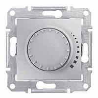 Светорегулятор (диммер) емкостной поворотно-нажимной проходной 25-325 Вт/ВА алюминий Sсhneider Sedna Седна