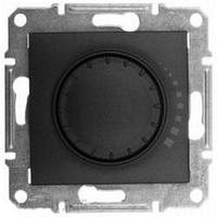 Светорегулятор (диммер) емкостной поворотно-нажимной проходной 25-325 Вт/ВА графит Sсhneider Sedna Седна