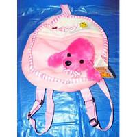 Детский мягкий плюшевый рюкзак 17170 пудель для дошкольного возраста