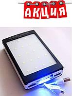 POWER BANK Metal Solar Led 15000 mAh UKC Smart. АКЦИЯ, фото 1